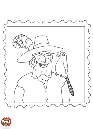 Coloriage: Portrait de pirate