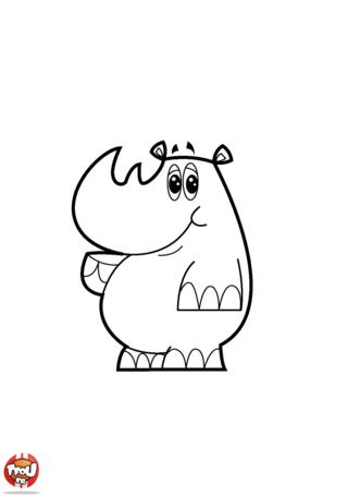 Coloriage: Rhino mignon