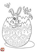Le lapin dans l'oeuf de Pâques