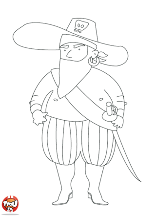 Coloriage: Pirate