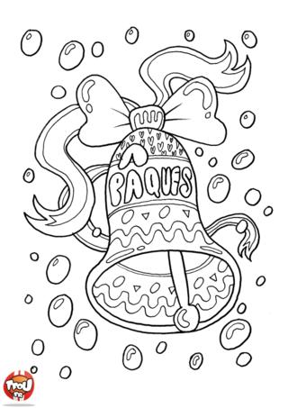 Coloriage : la Grande Cloche des vacances de Pâques sonne ! Dépêche-toi d'imprimer gratuitement sur TFou.fr ce superbe coloriage spécial Pâques. Si tu adores chercher les chocolats de Pâques qui sont cachés partout pour le fête de Pâques alors ce coloriage de cloche de Pâques te plaira ! Prends tes plus beaux crayons de couleur pour colorier cette magnifique cloche de Pâques. Tu pourras ainsi l'offrir en cadeau à ta famille ou à tes amis pendant les vacances de Pâques avec TFou.fr !