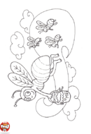 L'abeille ramène du miel