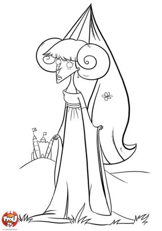 Coloriage: Princesse mécontente