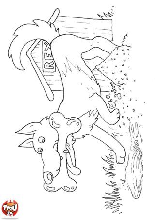 Coloriage: Rex et son os