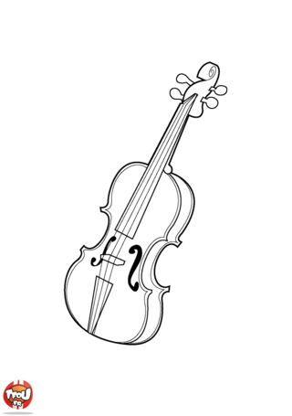 Coloriage: Violon