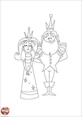 Coloriage: Couple royal