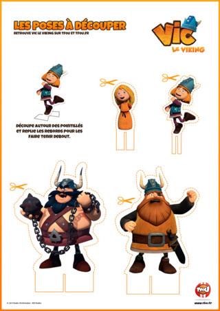 Activité : Imprime vite tes personnages de ta super nouvelle série de Vic le Viking. Retrouve Vic, Halvar, Ylvi et Sven ...