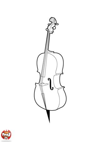 Coloriage: Violoncelle