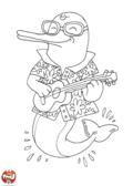 Dauphin joueur de banjo