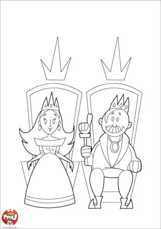 Coloriage: Roi et Reine