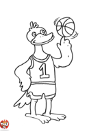 Canard basketteur
