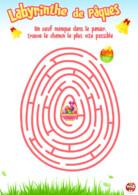 Pâques activité labyrinthe