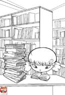 Lecture à la bibliothèque
