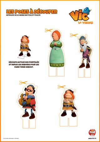 Activité : Imprime gratuitement tes personnages de Vic le Viking. Retrouve Ylva, Urobe, Ulme, et Snorre ...