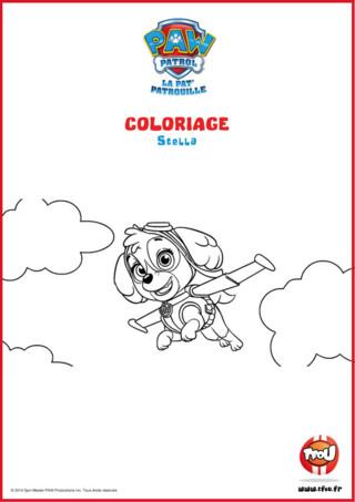 Prêt pour une activité coloriage? Ajoute de la couleur à Stella! Le sais-tu? En imprimant gratuitement ce coloriage de ton héros TFou tu pourras gagner plein de Tfizz ainsi qu'un badge Paw Patrol!