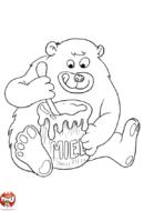 Petit ours aime le miel