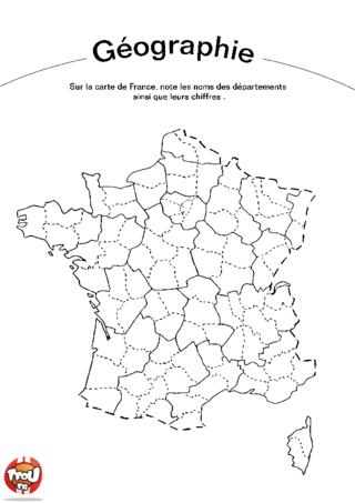 Coloriage: Les départements