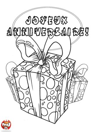 Coloriage: Gros cadeaux d'anniversaire