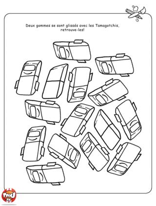 Coloriage: Gommes et Tamagotchis