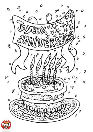 Coloriage joyeux anniversaire a imprimer gratuit sunn - Dessin bon anniversaire ...