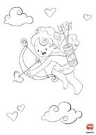 Coloriage saint valentin Cupidon mission love
