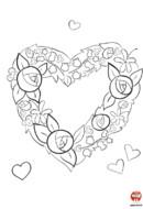Coloriage saint valentin des fleurs pour la Saint-Valentin