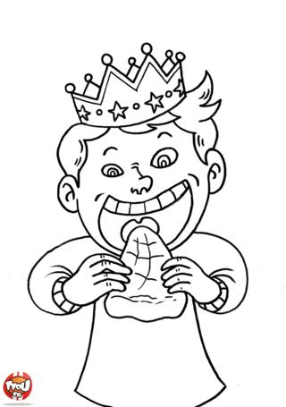 Coloriage: Galette des rois
