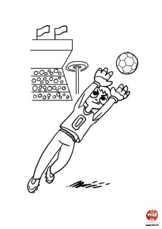 Hugo est le gardien de but de son équipe. C'est l'ultime rempart qui protège les buts des attaques des joueurs adverses. Sa mission est simple, ne laissez aucun ballon passer. Toi jeune Tfounaute, ta mission est simple. Allez sur TFou.fr et imprimer ce coloriage pour enfants. Toi aussi comme Hugo tu vas te servir de tes mains pour accomplir ta tâche ! Equipe-toi de tes crayons de couleur ou feutres et ajoute de jolies couleurs à ce coloriage. Plus il sera coloré, meilleur sera Hugo. Va sur TFou.fr et imprime ce coloriage de foot pour enfants !