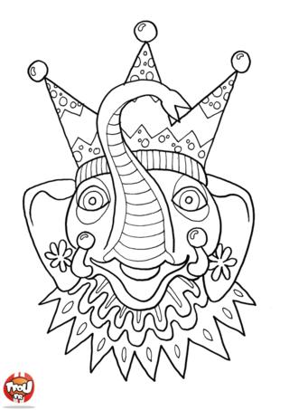 Toi aussi, viens fêter Mardi Gras sur TFou.fr ! Imprime ce très beau masque d'éléphant à colorier de mille couleurs ! Tu trouveras également plein d'autres masques sur TFou.