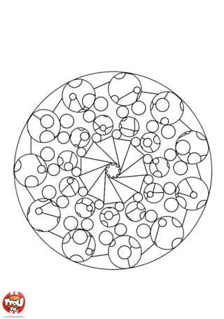 Coloriage: Mandala 1