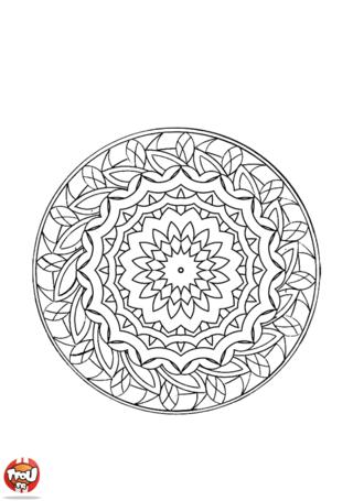 Coloriage: Mandala 2