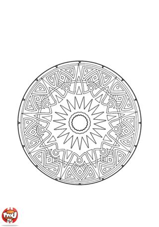 Coloriage: Mandala 3