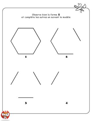 Coloriage: Suite de formes 1
