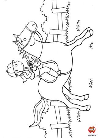 Coloriage : Cheval d'équitation. Tu aimes l'équitation ? Imprime vite ce magnifique coloriage de cheval puis ajoute les couleurs de ton choix ! Tu peux même décorer ta chambre avec ce coloriage en l'affichant sur ton mur.