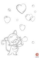 Coloriage-Stvalentin-bulles d'amour
