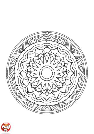 Coloriage: Mandala 4