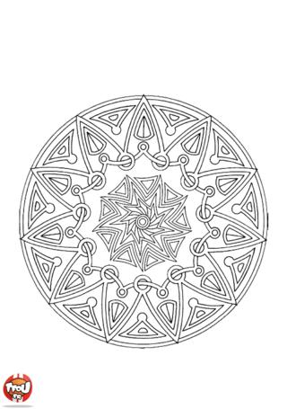 Coloriage: Mandala 5