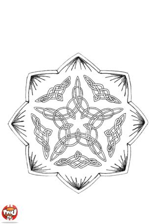 Coloriage: Mandala 6