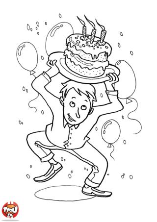Coloriage: Oops le gâteau