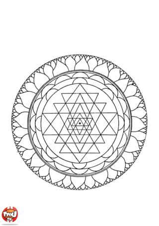 Coloriage: Mandala 8