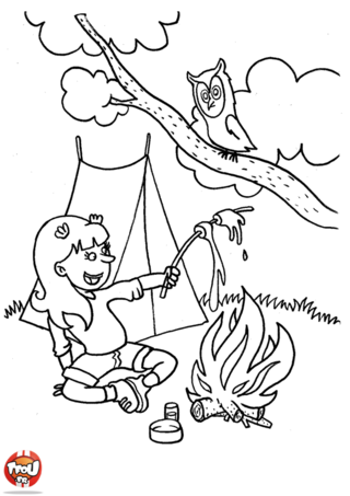 Pin coloriage feu camp pictures on pinterest - Feu coloriage ...