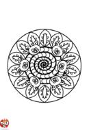 Mandala chenille