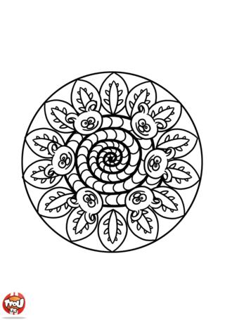 Coloriage: Mandala chenille