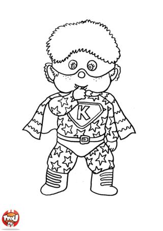 Coloriage: Petit garçon en costume