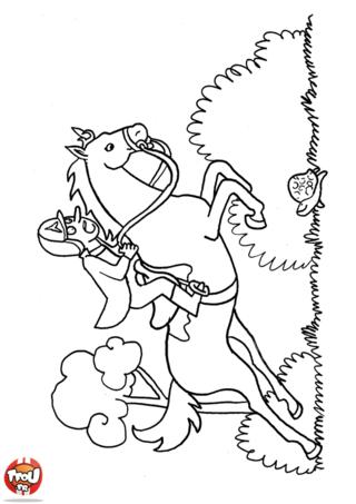 Coloriage: Course de chevaux