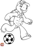 Franklin joue au foot