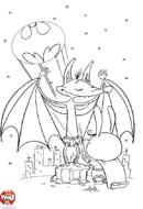Chauve-souris qui se prend pour Batman