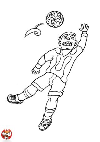Coloriage: Le goal s'élance