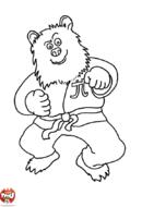 Ours fait du judo