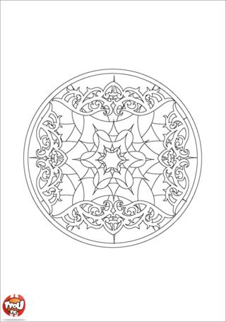 Coloriage: Mandala 12